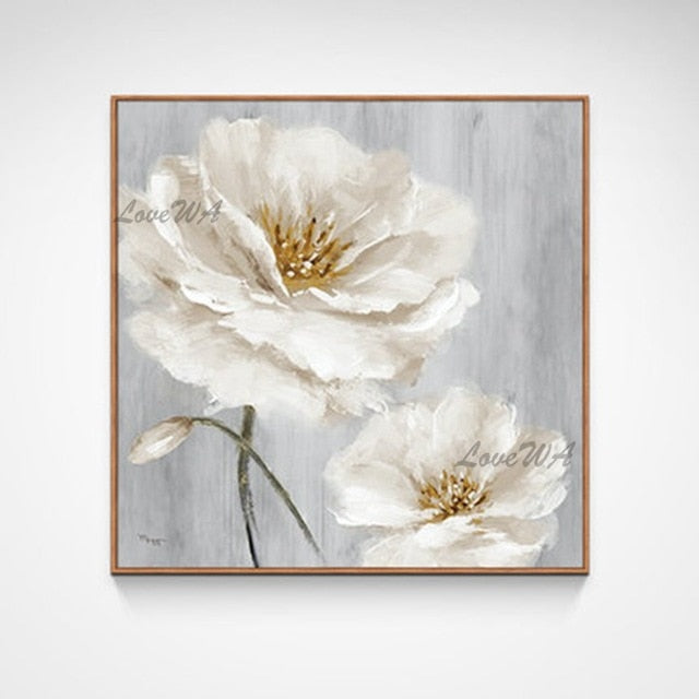 Handmade Abstract Flower Oil Painting Canvas Wall