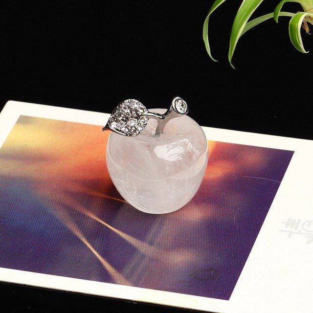 1PC Natural Crystal Rose Quartz Apple Quartz Crystal Stone Crafts Mineral Jewelry Modern Home Decoration Small Decoration Gift