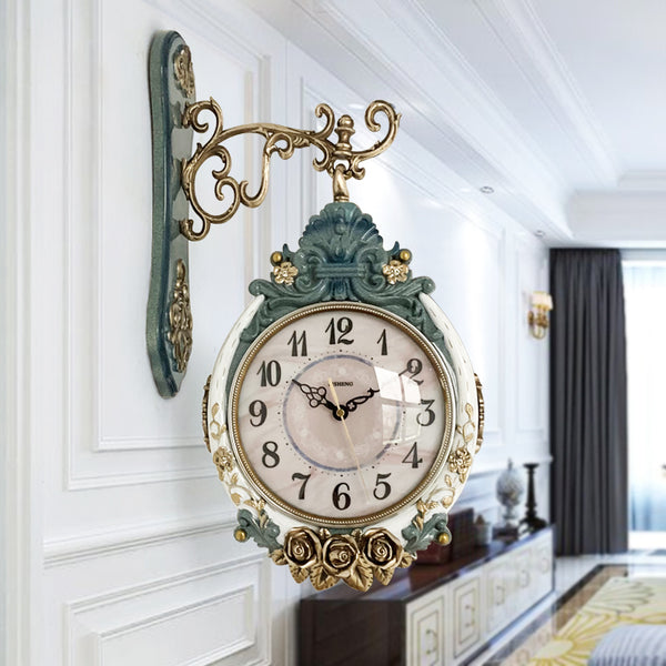 Double-Sided European Large Wall Clock