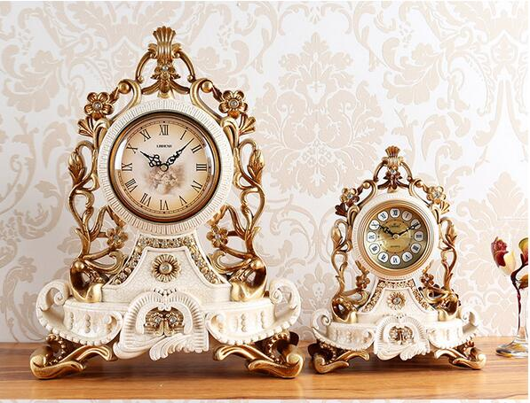 WEDDING CHRISTMAS DECORATIONS FOR HOME EUROPEAN CERAMIC CRACKS RETRO CLOCKS TABLE CLOCKS  WATCHES AND WATCHES EUROPEAN PENDULUMS