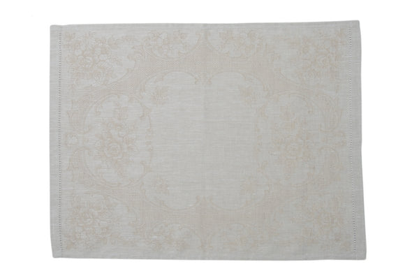 Alena Linen Guest Towels Beige - Set of 6