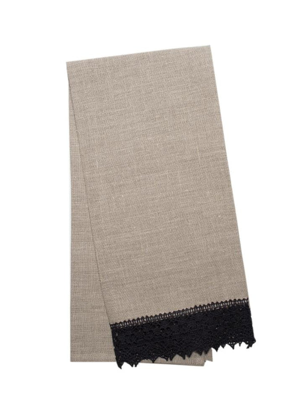 Ava Linen Guest Towels - Set of 6 - Choice of 2 Colours