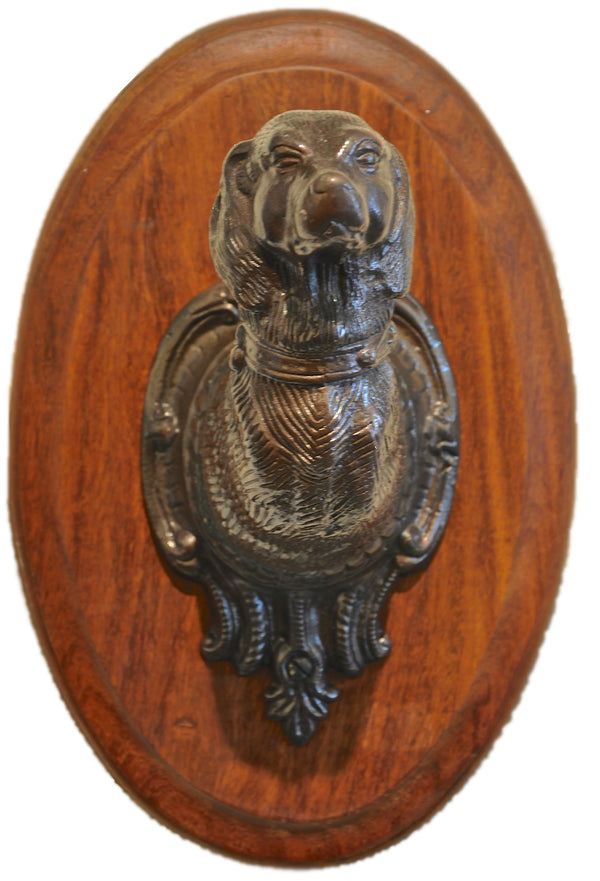 Dog Head Wall Plaque - Leash Holder