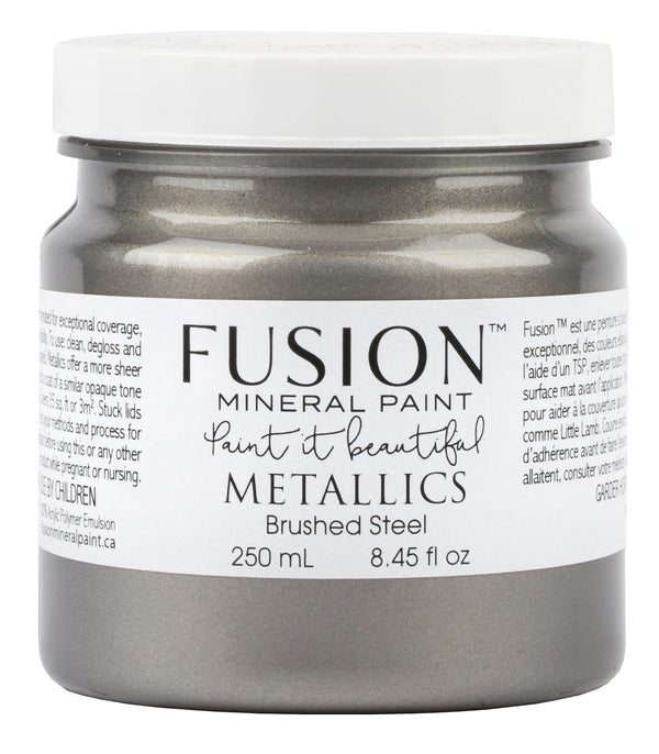 Fusion Mineral Paint - Metallic Brushed Steel