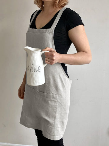 Catalina Linen Apron - Choice of 8 Colours