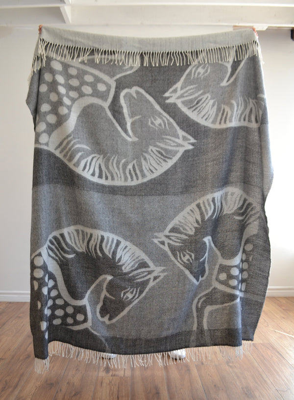 Cavallo Throw Charcoal & Light Grey