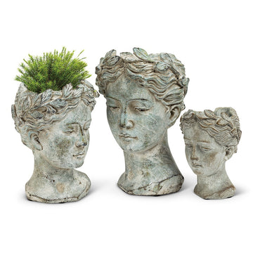 Goddess Head Planter - Extra Small