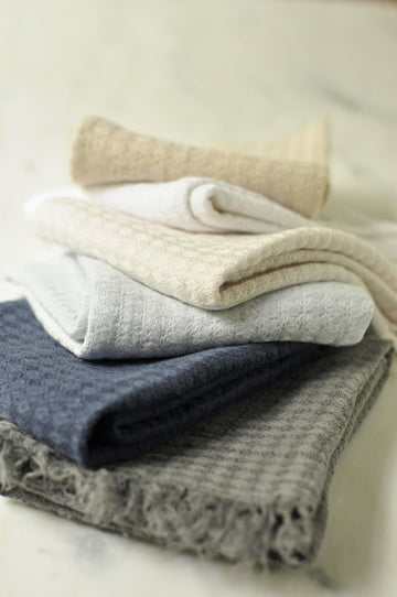 Hampton Linen Guest Towels - Set of 6 - Choice of 2 Colours