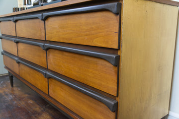 SOLD - Mid-Century Modern 9 Drawer Dresser