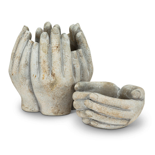 Small Cupping Hands Planter