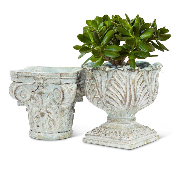 Ornate Pedestal Planter