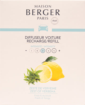 Zest of Verbena Car Diffuser Refill – 2 Pack