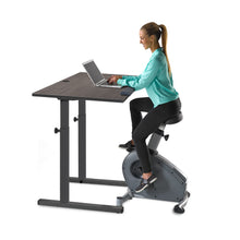 "Load image into Gallery viewer, Lifespan C3-DT5S Bike Desk w/38"" Gray Desktop"