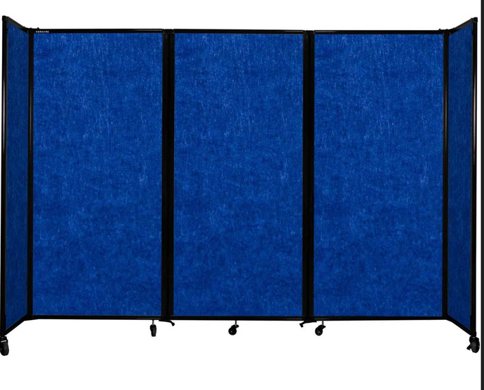 Premium SoundSorb Room Divider 360® in blue - 8'6
