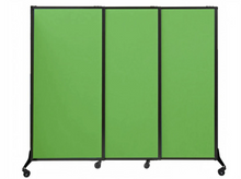 "Load image into Gallery viewer, QuickWall Fabric Folding Portable Partition- 5'10"" high x 7' wide"