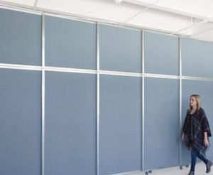 "Operable Wall Folding Room Divider- 12'3"" high x 9'9"" wide"