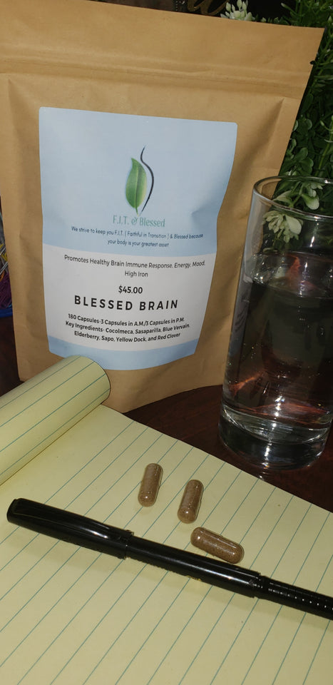 Blessed Brain causes sharp mental focus for test taking and studying.  Energizes mood, strengthens immune response while supplying much needed iron.  Great for fast paced lifestyles and students