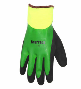 GnarPack 32 - Insulated, Thermal Shell, Double Coated Latex Winter Glove