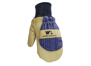 Wells Lamont 5135 Lined Pigskin Leather Knit Wrist Mitten