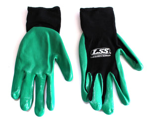 1890B - NITRILE COATED PALM GLOVES - 6 Pack