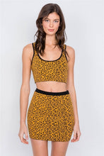 Load image into Gallery viewer, Leopard Print Crop Tank Top & Mini Skirt Set