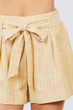 Load image into Gallery viewer, Waist Bow Tie Y/d Stripe Short Pants