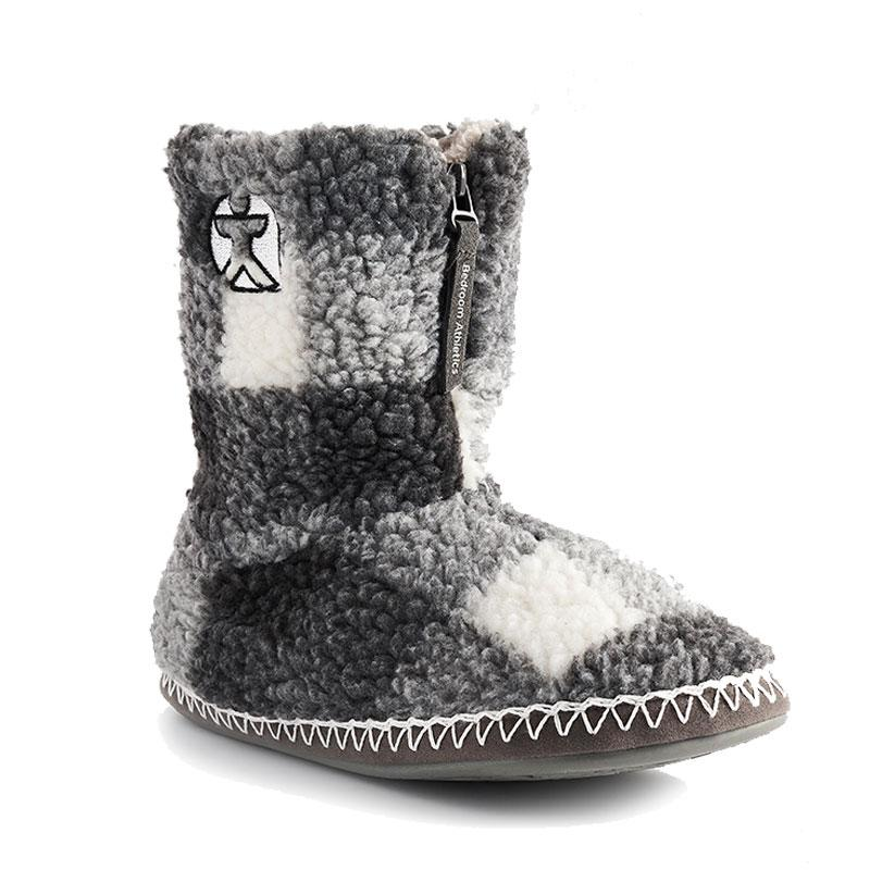 McQueen - Check Sherpa Fleece Slipper Boots