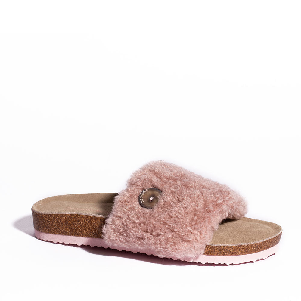 Maya - Borg Faux Fur Slipper Slider