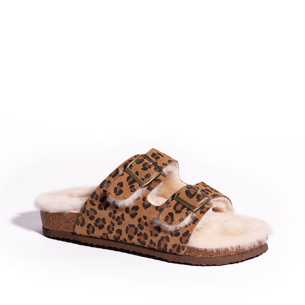 Mabel - Sheepskin 2-Strap Slipper Sandal