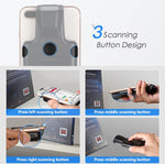 Eyoyo 2D Back Clip Bluetooth Barcode Scanner Work with Phone, Portable Barcode Reader with Bluetooth Function 1D 2D QR