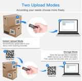 Eyoyo 1D, 2D & QR Codes Bluetooth Mini Barcode Scanner with USB Wired/Bluetooth/ 2.4G Wireless