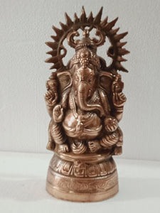 Black metal Ganesh 15 inches