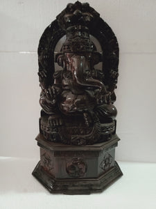 Rose wood ganesh figure 26 inches