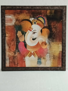 mate finesh cool painting Ganesh frame inches 17×17