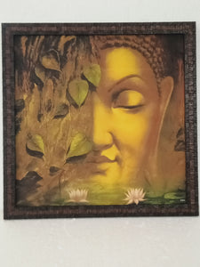 mate finesh cool painting Budda inches 17×17 frame