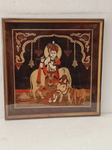 Rose wood Cow krishna 18 X 18