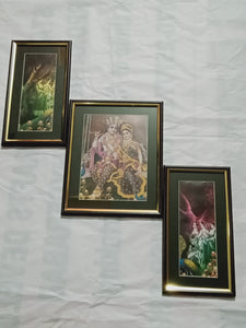 Three piece Radhakrishna wall framea