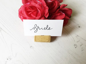 Flat Wedding Place Cards