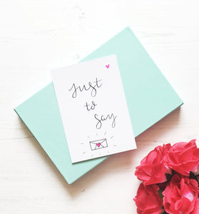 Just to Say Notecards | Postcards