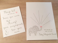 Load image into Gallery viewer, Baby Shower Finger Print Guestbook