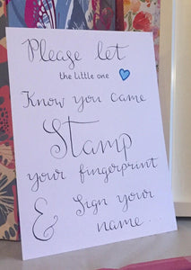 Baby Shower Finger Print Guestbook