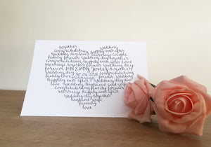 Wedding card for couple