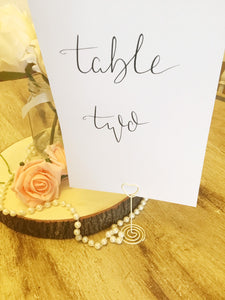 Wedding Table Number | Name Cards