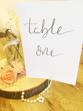Load image into Gallery viewer, Wedding Table Number | Name Cards