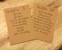 Load image into Gallery viewer, Wedding Table Plan Cards
