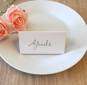 Silver Ink Place Cards