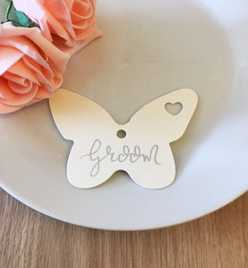 Butterfly Silver Ink Place Cards