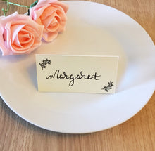 Load image into Gallery viewer, Wedding Place Cards with Foliage Detail