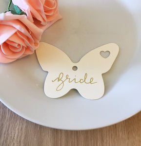 Butterfly Gold Ink Place Cards