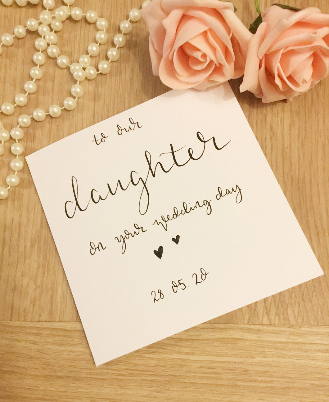 To Our Daughter on your Wedding day card
